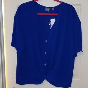 New York and Company Soho Blue Blouse NWT